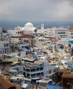 Fira santorini greece overlooking the principal town of europe Stock Photos