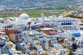 Fira santorini greece town island Royalty Free Stock Photos
