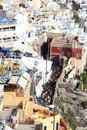 Fira santorini greece town island Stock Images