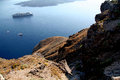 Fira santorini greece a view of the caldera from the town island Stock Photo