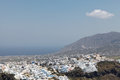 Fira on santorini island in the cyclades greece Stock Photo