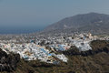 Fira on santorini island in the cyclades greece Royalty Free Stock Image