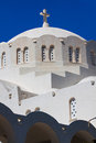Fira santorini island greece europe the orthodox metropolitan cathedral in the principal town of Stock Photography