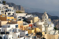 Fira santorini town of in cyclades islands greece Stock Image