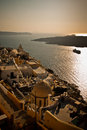 Fira santorini town of island greece Stock Photo
