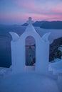 Fira santorini village of island greece Royalty Free Stock Photography