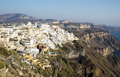 Fira town view of in santorini greece cyclades Stock Photos
