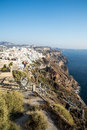 Fira town view of in santorini greece cyclades Royalty Free Stock Photo