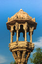 Fird feeder carved stone bird which is a heritage artistic ikon photographed at ahmedabad india Stock Images
