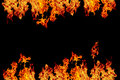 fire or ablaze wall, yellow, orange and red and red Fire flame i Royalty Free Stock Photo