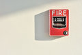 Fire alarm activation switch Royalty Free Stock Images
