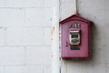 Fire alarm box Royalty Free Stock Photo