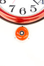 Fire alarm with clock on the white wall background Royalty Free Stock Image