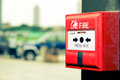 Fire alarm closeup Royalty Free Stock Photo