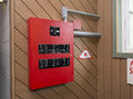 Fire alarm control panel Royalty Free Stock Photo
