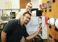Fire Alarm Repair Royalty Free Stock Photo