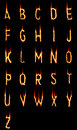 Fire alphabet Royalty Free Stock Images