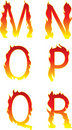 Fire alphabet mnopqr Stock Images