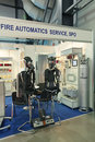 Fire automatics service saint petersburg jun ship systems of prevention safety on th international maritime defense show imds on Stock Images