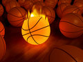 Fire basketball glow ball Stock Image