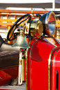 Fire bell old engine at a and emergency services week in roseburg oregon Royalty Free Stock Image