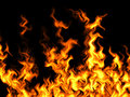 Fire on black background Royalty Free Stock Photography