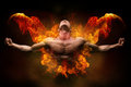 On Fire Bodybuilder