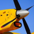 Fire bomber propeller and engine from a bombardier cl canadair Stock Photography
