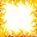 Fire border Stock Image