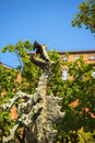Fire Breathing Dragon Sculpture at the Royal Wawel Castle in Krakow Poland Royalty Free Stock Photo