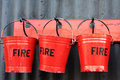 Fire buckets Royalty Free Stock Photo