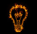 Fire Bulb Royalty Free Stock Photo