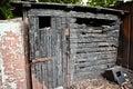 Fire burnt barn Royalty Free Stock Photo