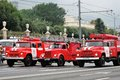 Fire cars. First Moscow Parade of City Transport Royalty Free Stock Photo