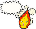 Fire Cartoon Character Stock Photo