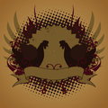 Fire chickens, emblem Royalty Free Stock Photos