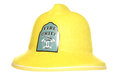 Fire chief firemans helmet studio cutout Royalty Free Stock Image
