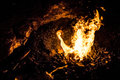 Fire of a coal forge Royalty Free Stock Photo