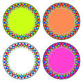 Fire colorful circle frame vector can be used for border and background Stock Image