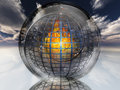 Fire contained in sphere Royalty Free Stock Photo