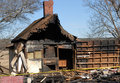 Fire Damaged House Royalty Free Stock Photography