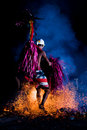 Fire Dancer Entertainment Stock Images