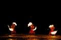 Fire Dancers In Water