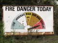 Fire Danger Sign Stock Photography
