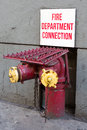A fire department connection enabling the fire department to fight fires Royalty Free Stock Photography