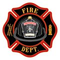 Fire Department Cross Black Helmet Royalty Free Stock Photo