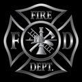 Fire Department Cross Silver Royalty Free Stock Photo