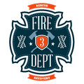 Fire department emblem Royalty Free Stock Images