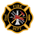 Fire department maltese cross or firefighter's symbol illustration Royalty Free Stock Images