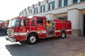 Fire department truck in beverly hills l a california Royalty Free Stock Photos